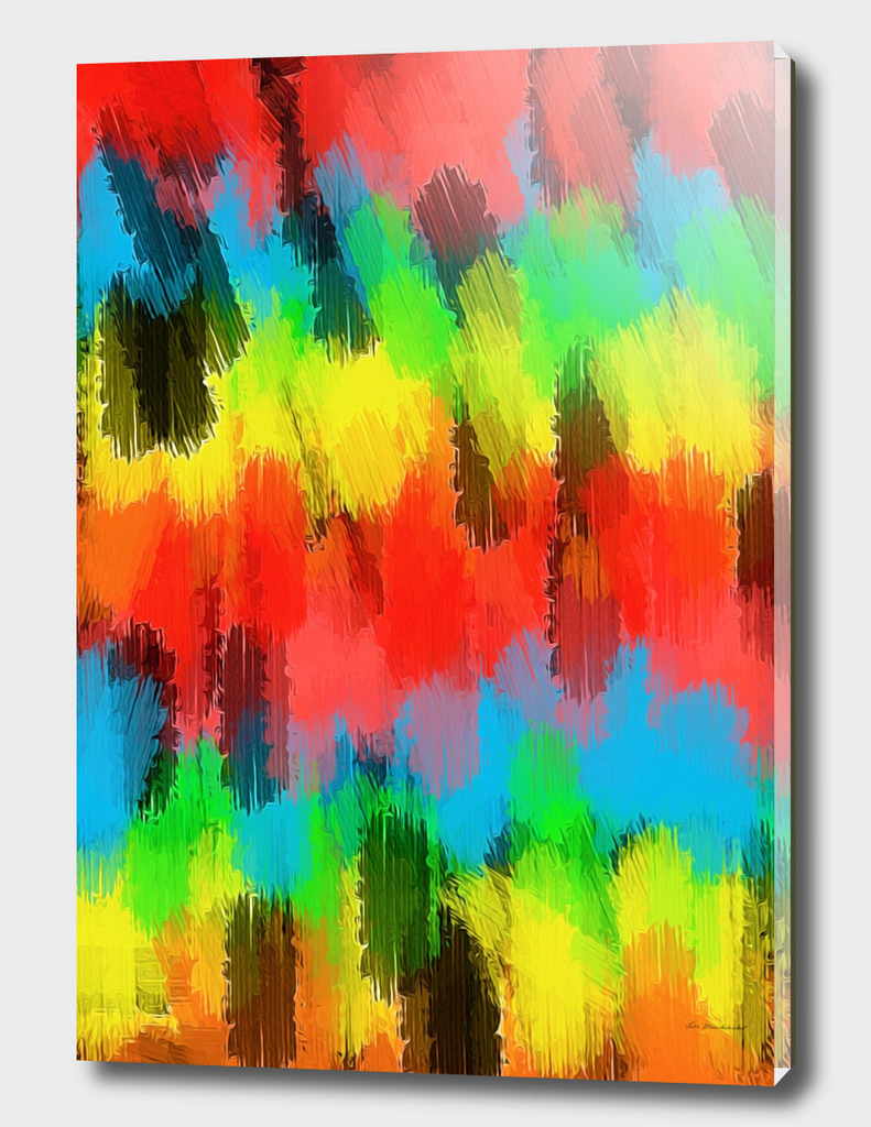 red yellow blue green black painting abstract background