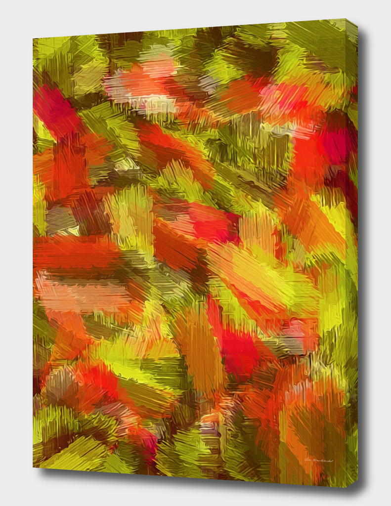 yellow red brown painting texture abstract background