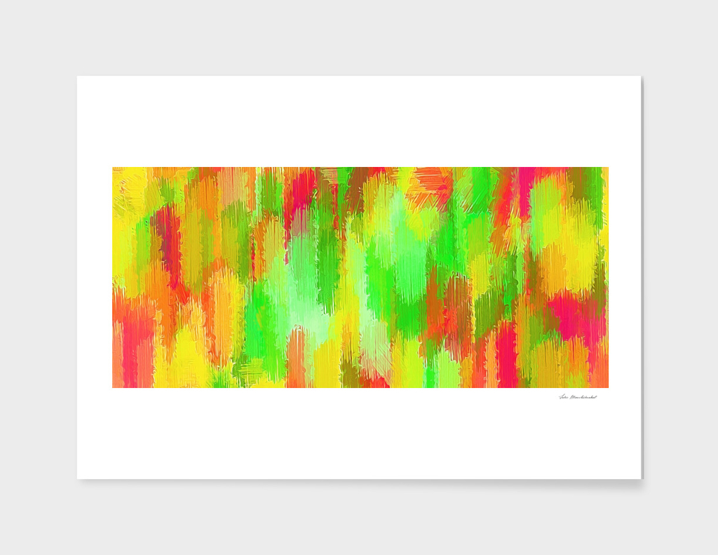 green yellow red painting abstract background