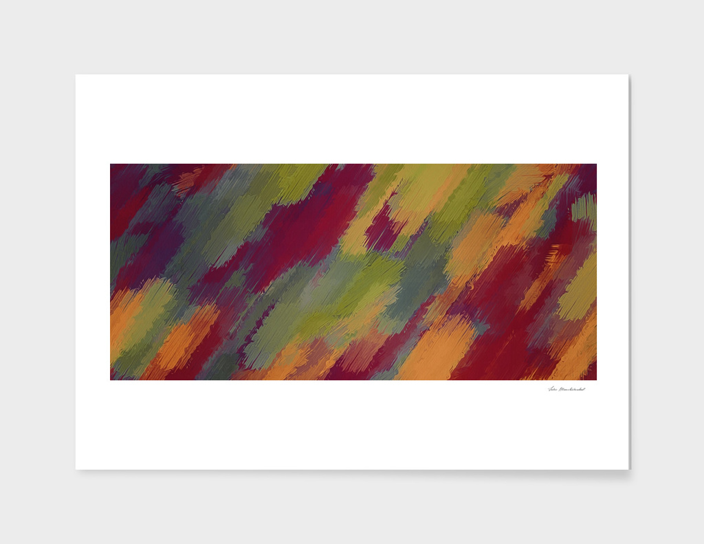 vintage abstract painting texture in brown green yellow