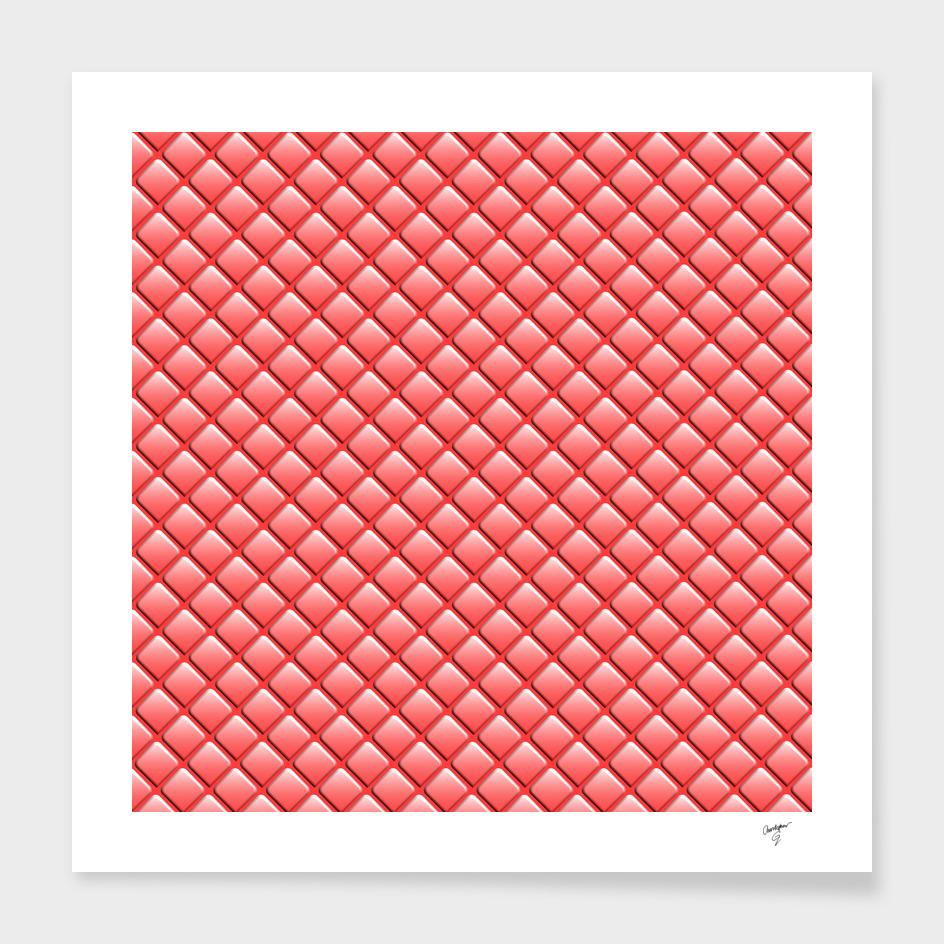 Watermelon Geometric Rhomboid Pattern