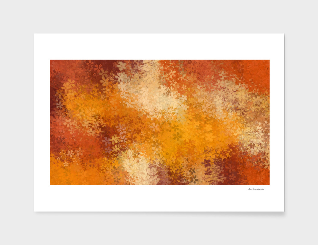 brown and yellow flower texture abstract background