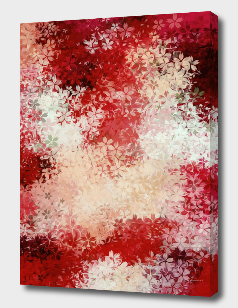 red flower texture abstract background