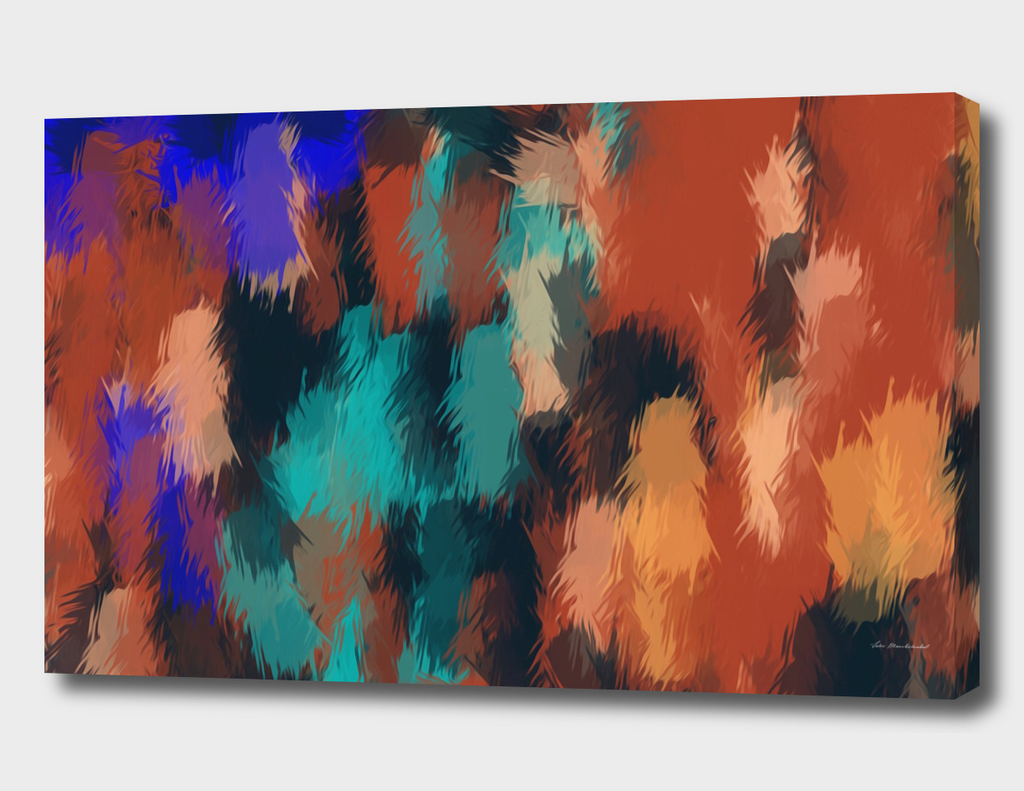 brown green blue abstract painting background