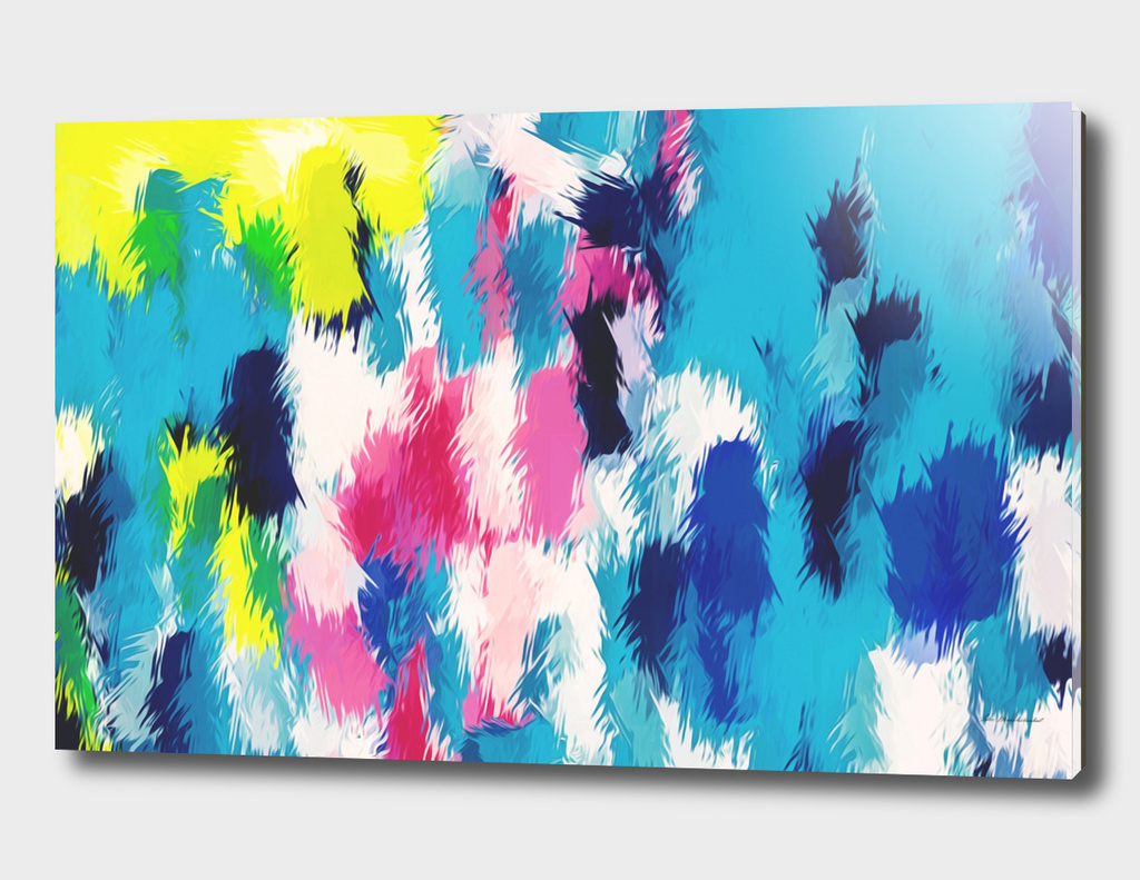 blue pink yellow abstract painting background