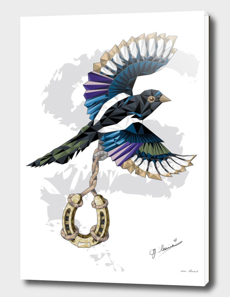 I love Polygon - Magpie colorful