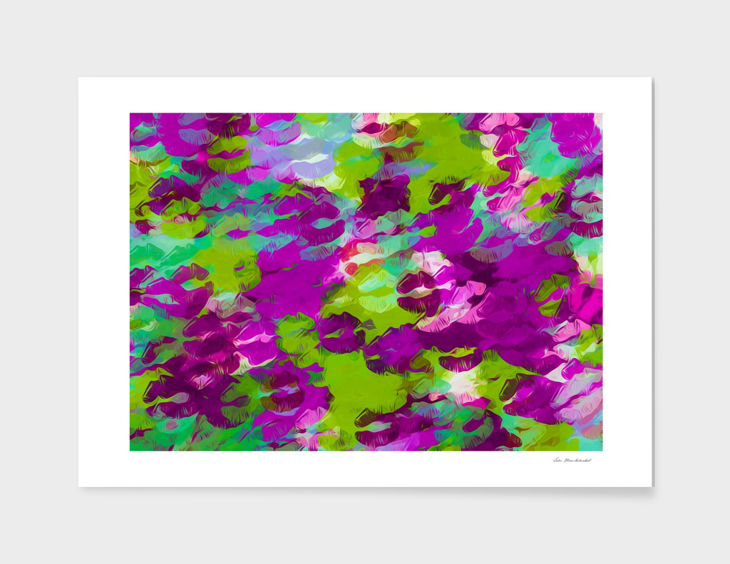 purple pink and green kisses lipstick background