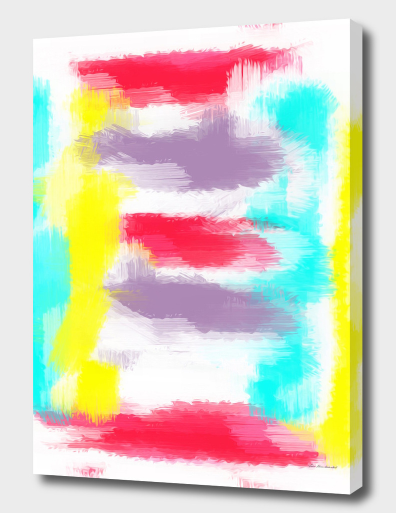 yellow red blue line pattern painting background