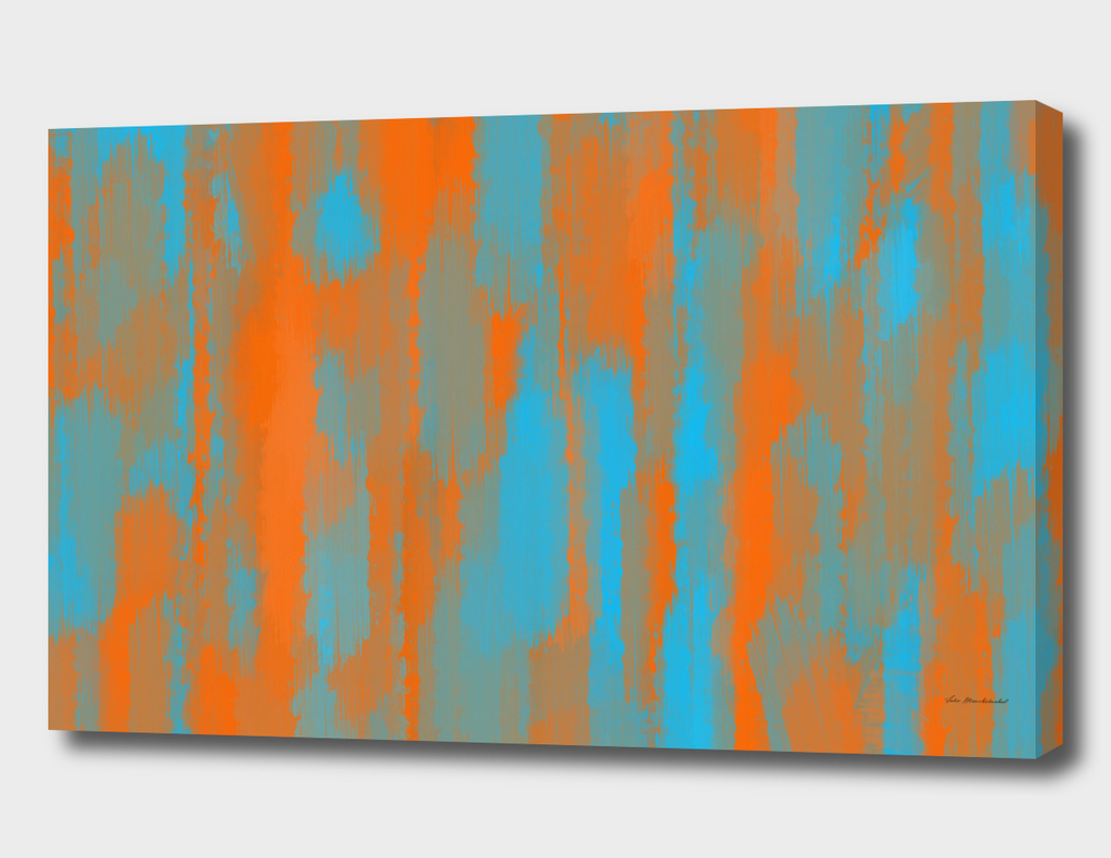 orange and blue painting abstract background