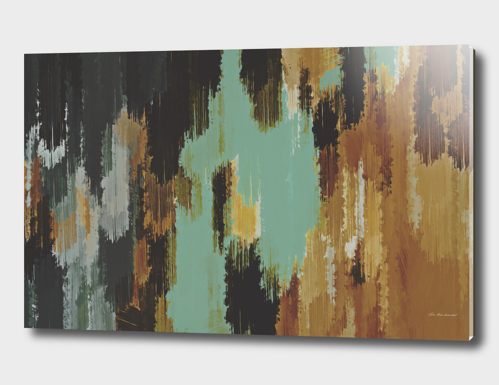 brown green black abstract painting background