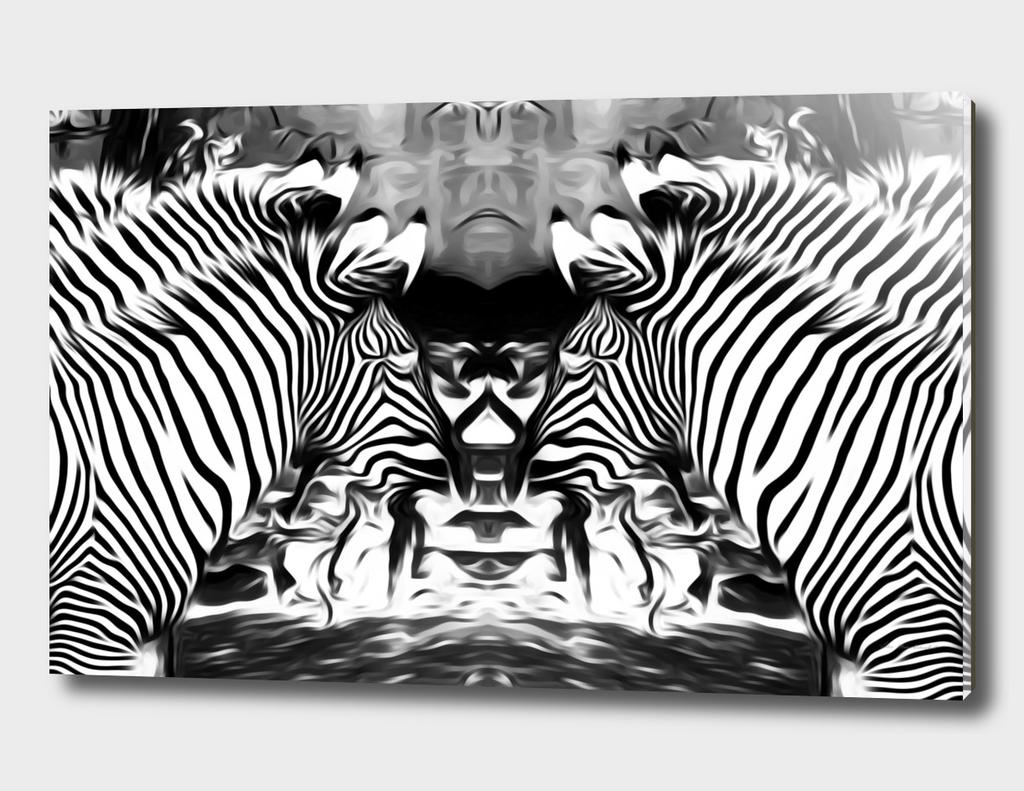 zebras in black and white