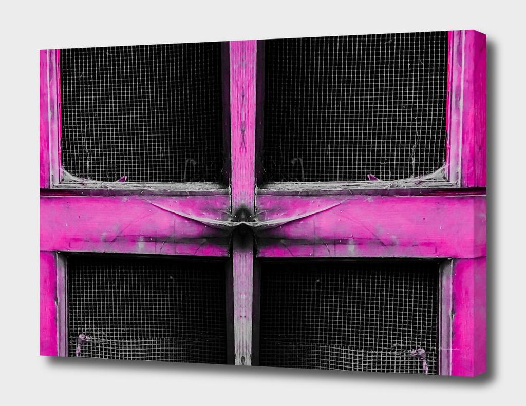 old pink wood door background