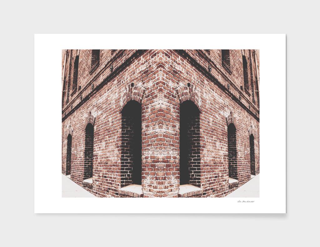 brown brick building