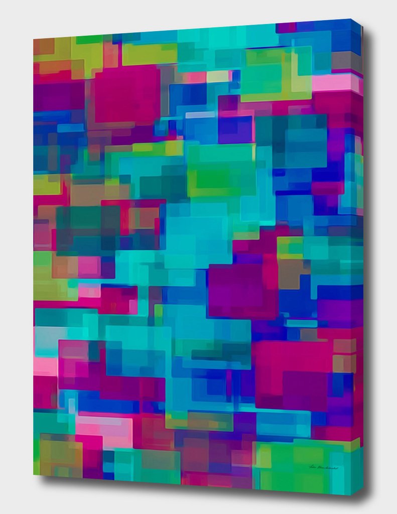 pink blue green square pattern abstract background