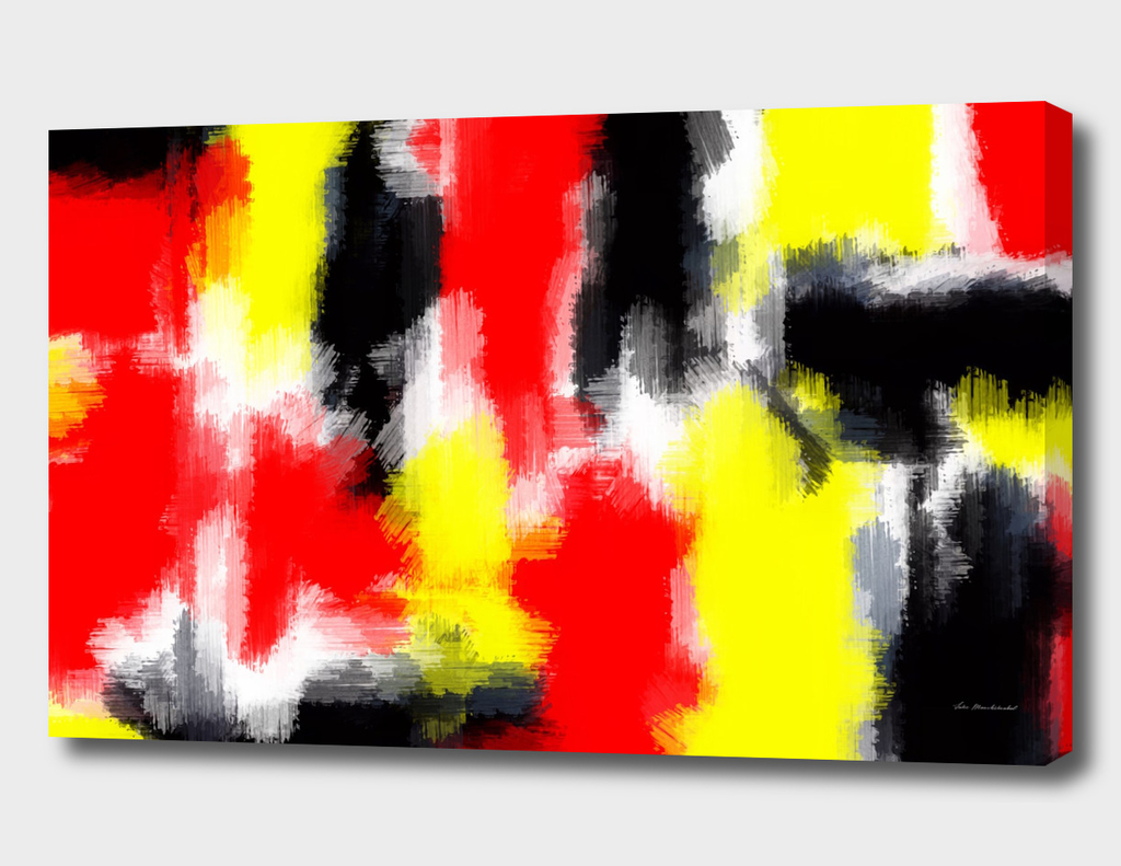 red yellow and black painting texture abstract background
