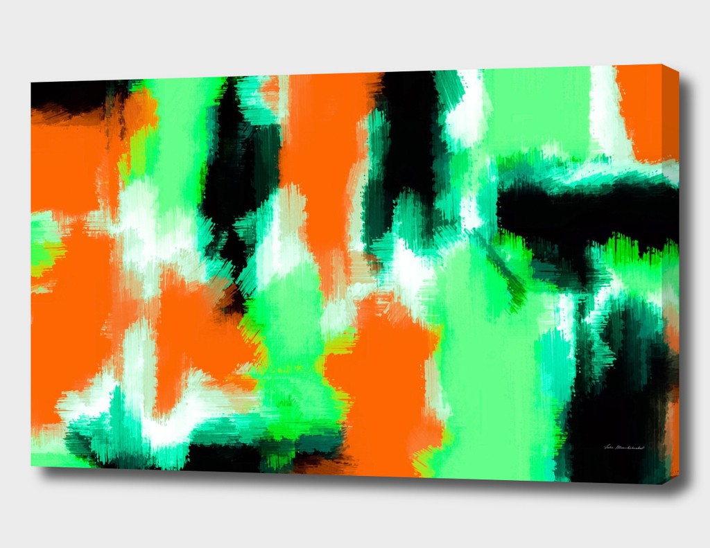 green orange black abstract painting texture background