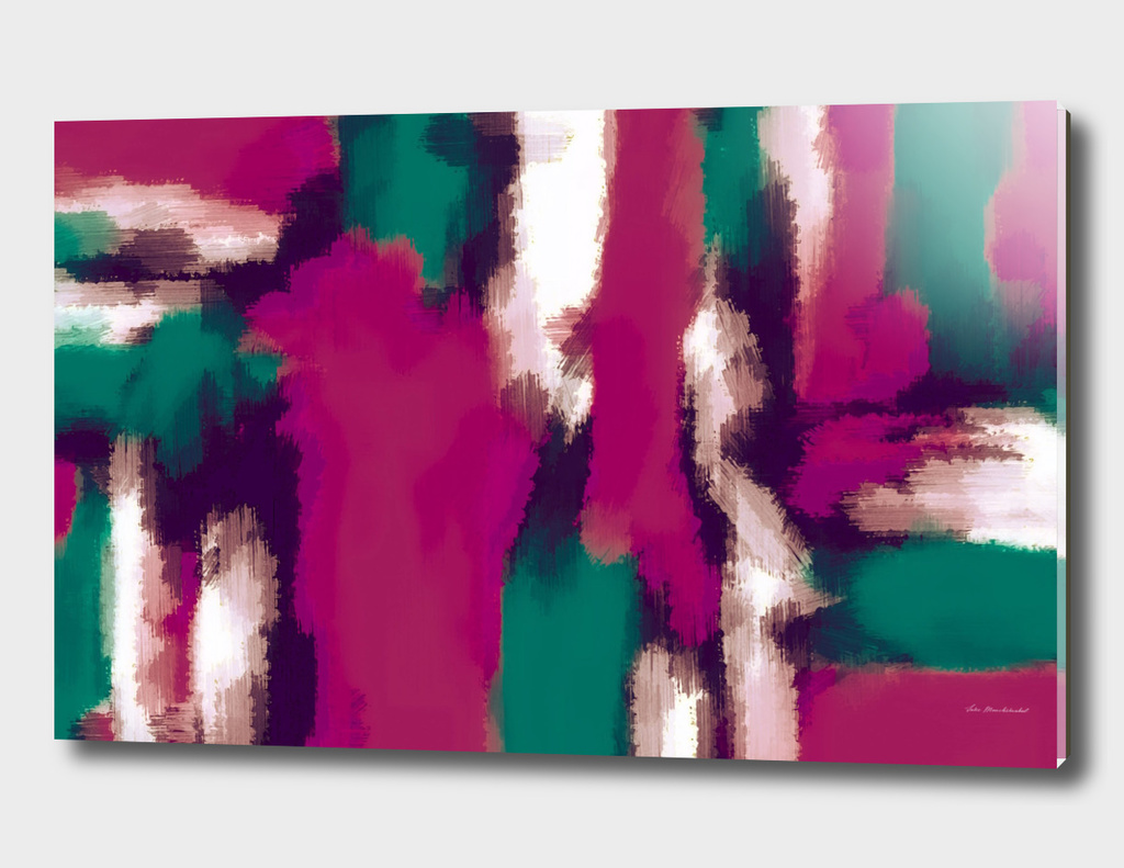 pink and green abstract painting background