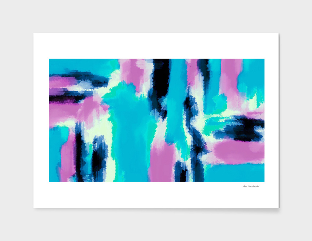 pink and blue watercolor painting abstract background
