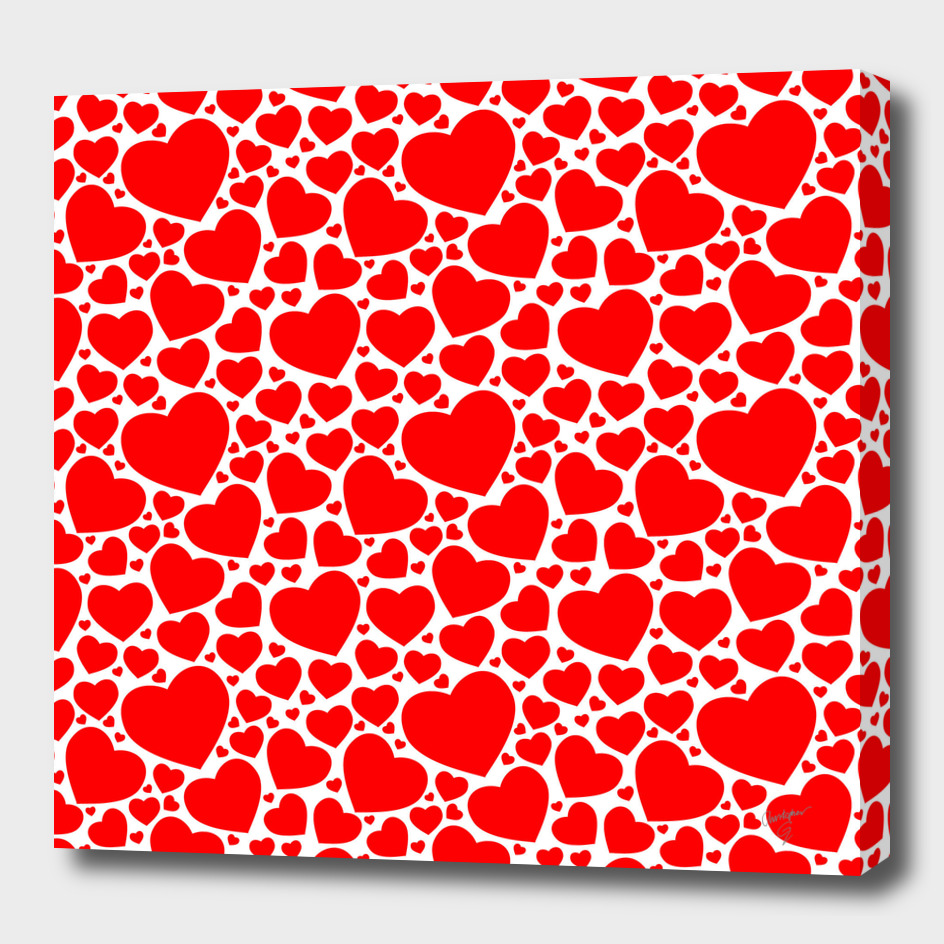 Valentines Day Red Hearts Pattern