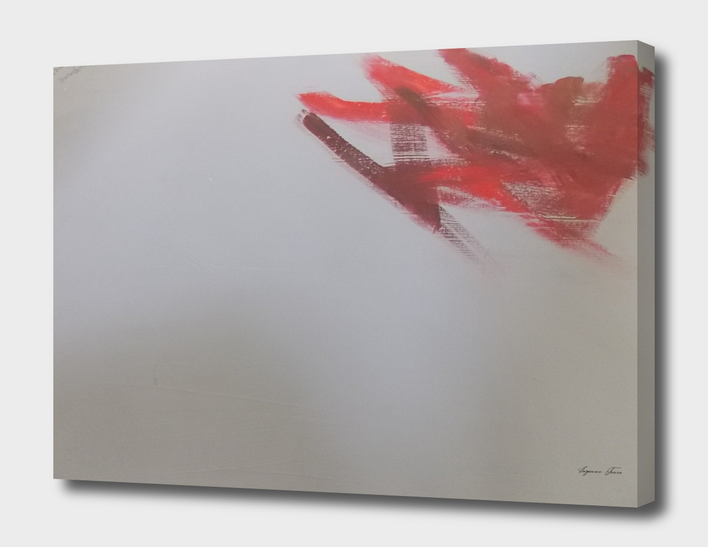 Abstract Art Gray and Red