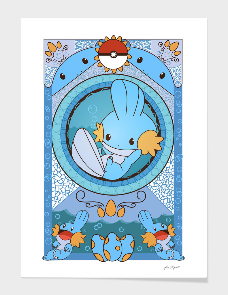 Stained Glass Mudkip