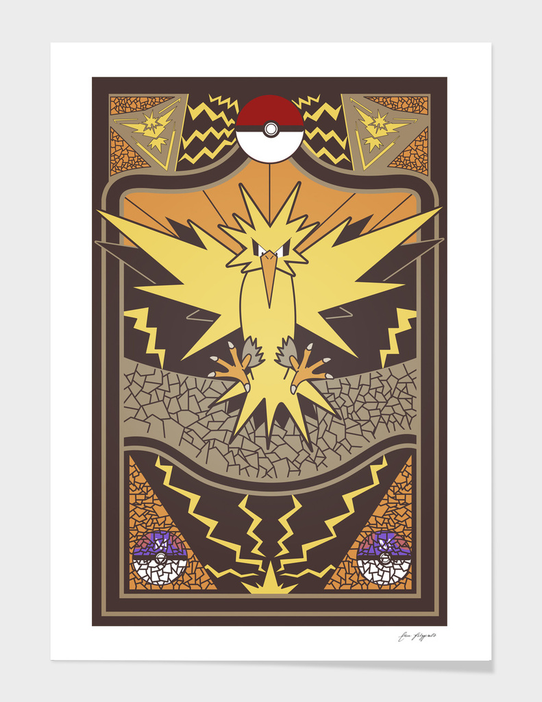 Stained Glass Zapdos: Pokemon GO Edition