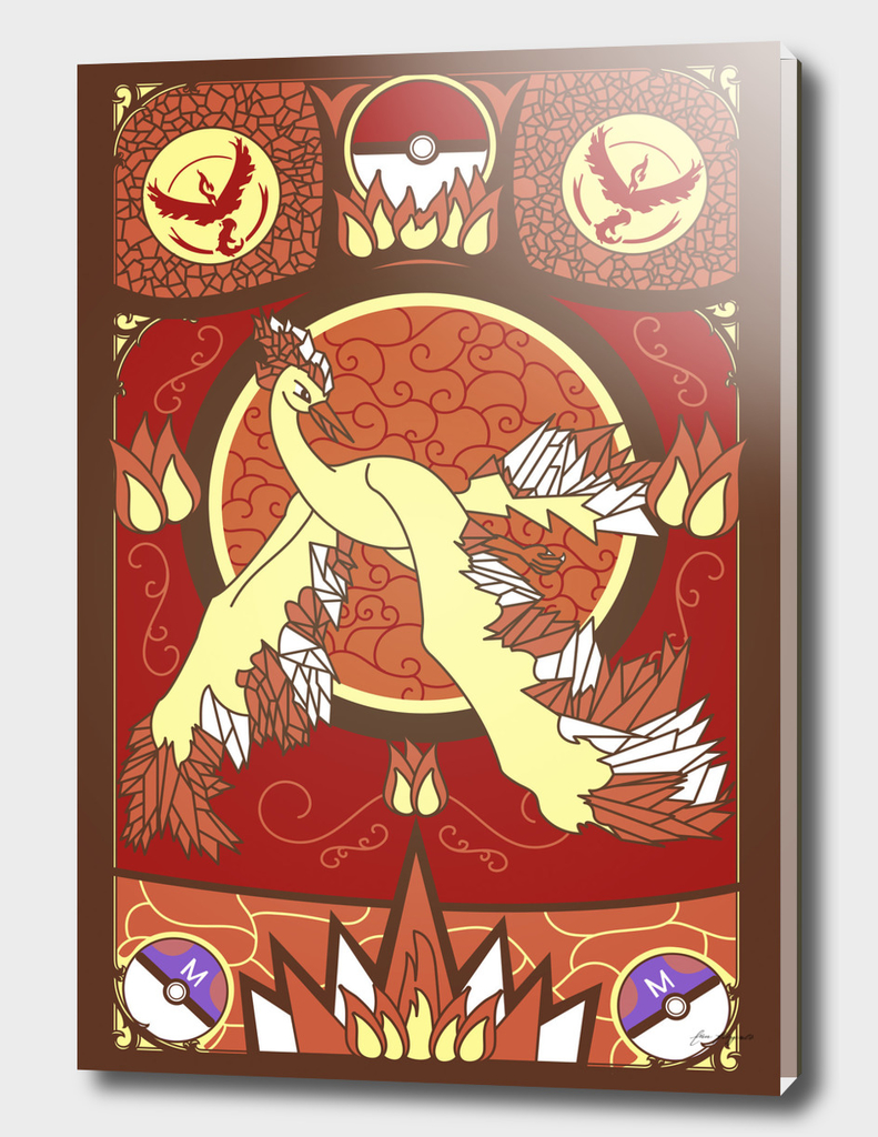 Stained Glass Moltres: Pokemon GO Edition