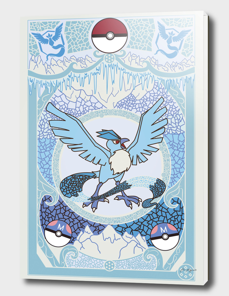 Stained Glass Articuno: Pokemon GO Edition