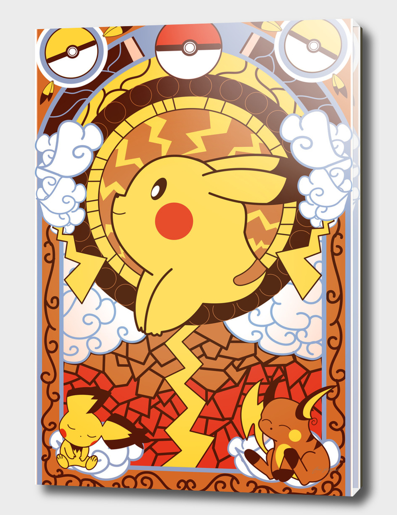 Stained Glass Pikachu