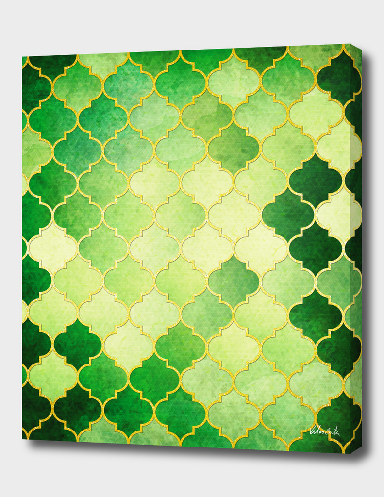 Golden Stained Glass and Jade