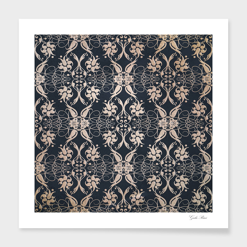 Baroque grunge pattern