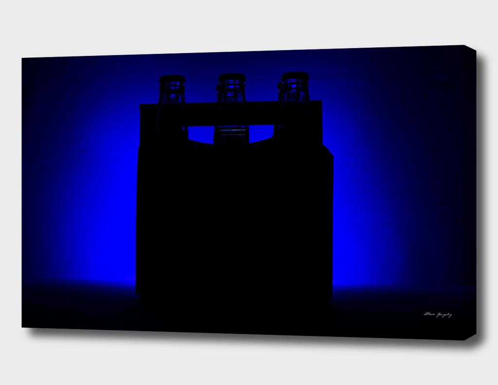 Corona's on Blue Background