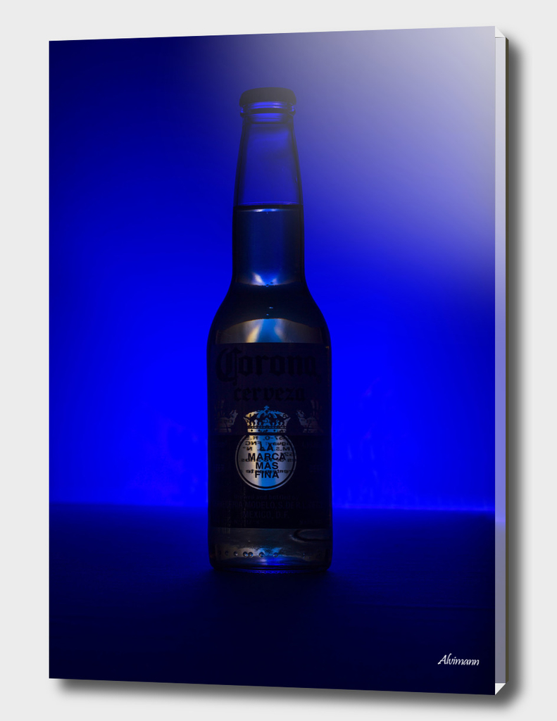 Corona's on Blue Background