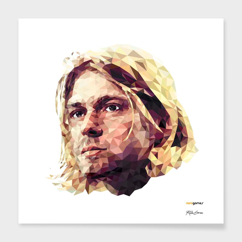 Kurt Cobain Low Poly