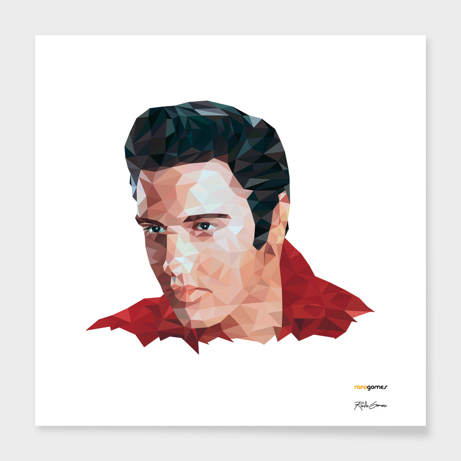 Elvis Presley Low Poly
