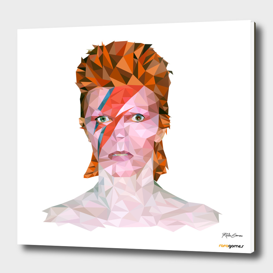David Bowie Low Poly
