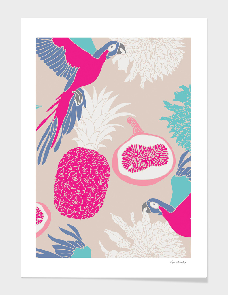 Parrots and Pineapples