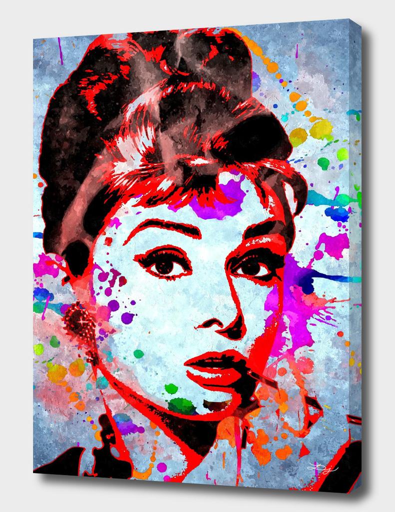 Audrey Hepburn Grunge