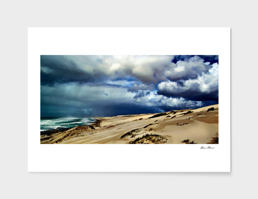 Gathering Storm Over the Beach Dunes