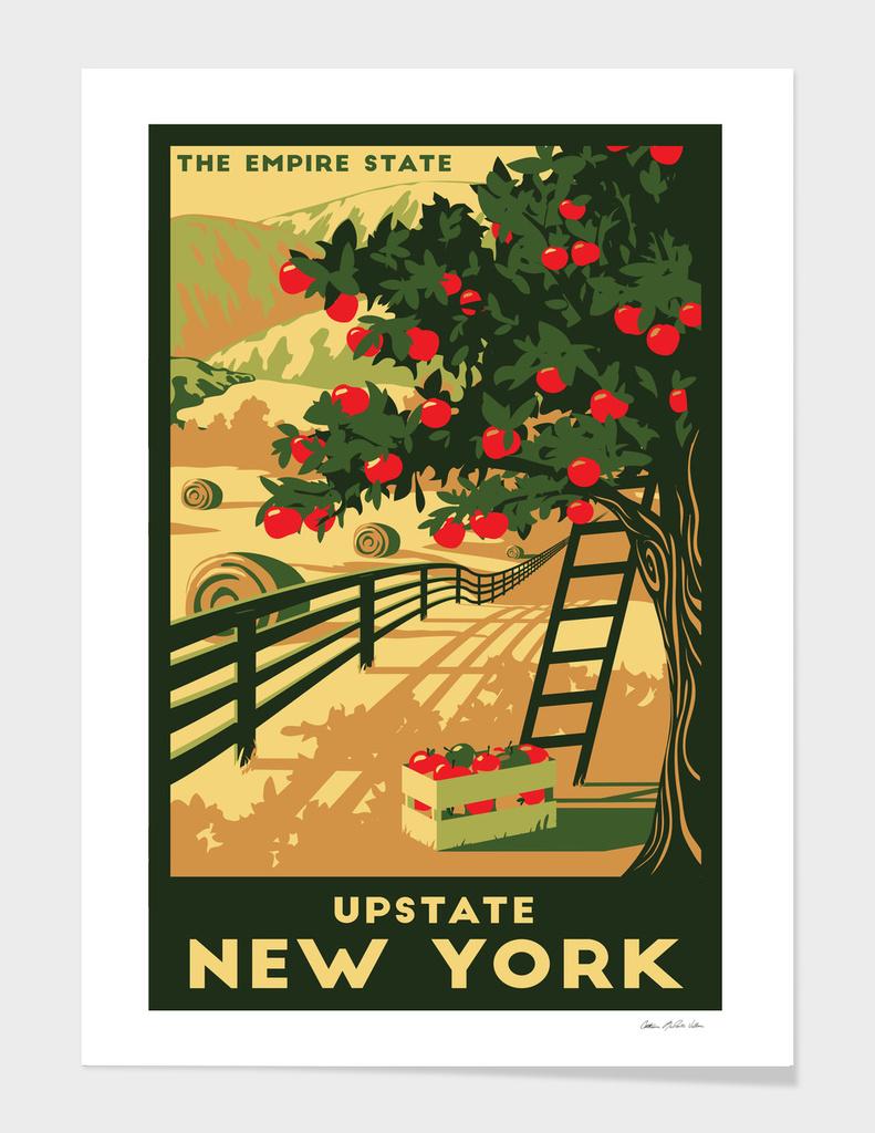 Upstate New York Travel Poster