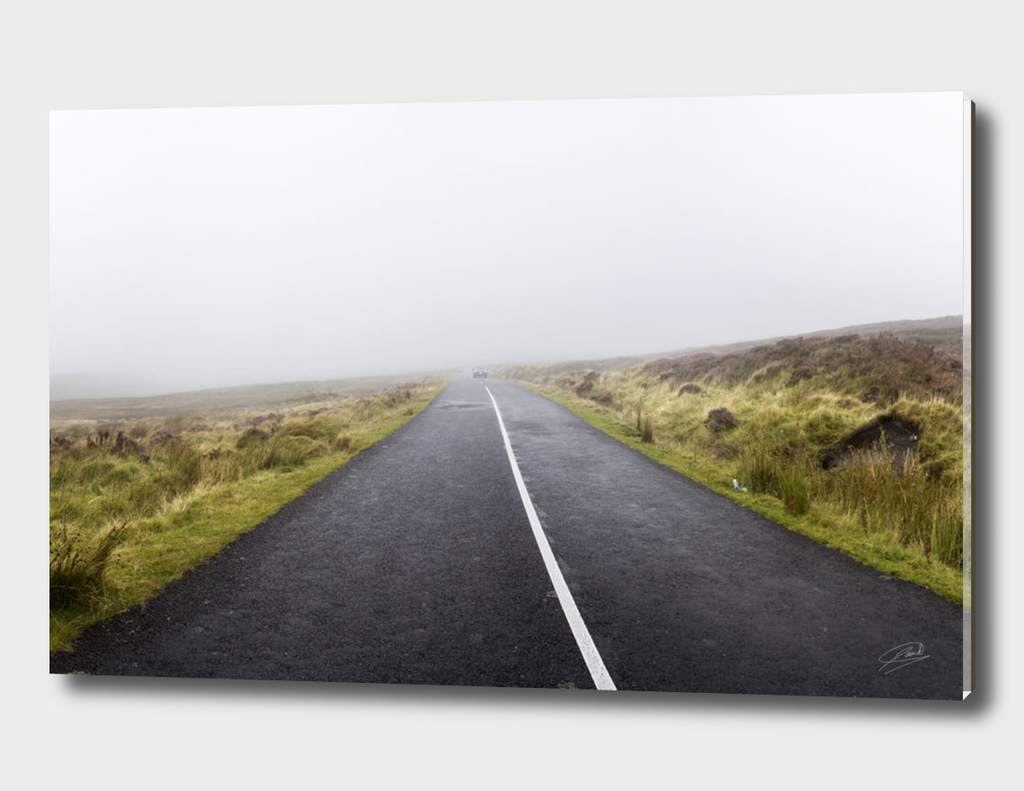 Road under the fog