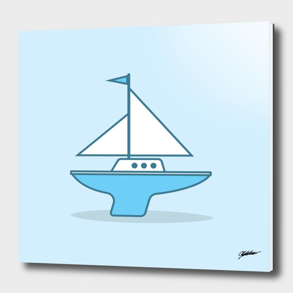 Blue Salboat
