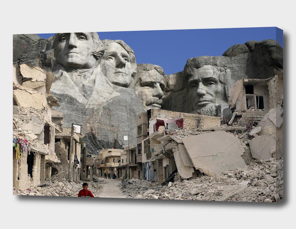 EarthJam Collage (Aleppo +Rushmore)