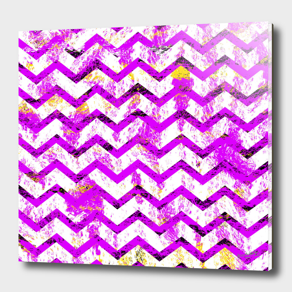 Pink Distressed Chevron