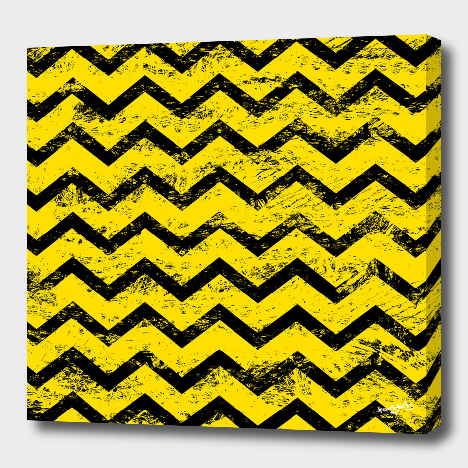 Yellow and black chevron