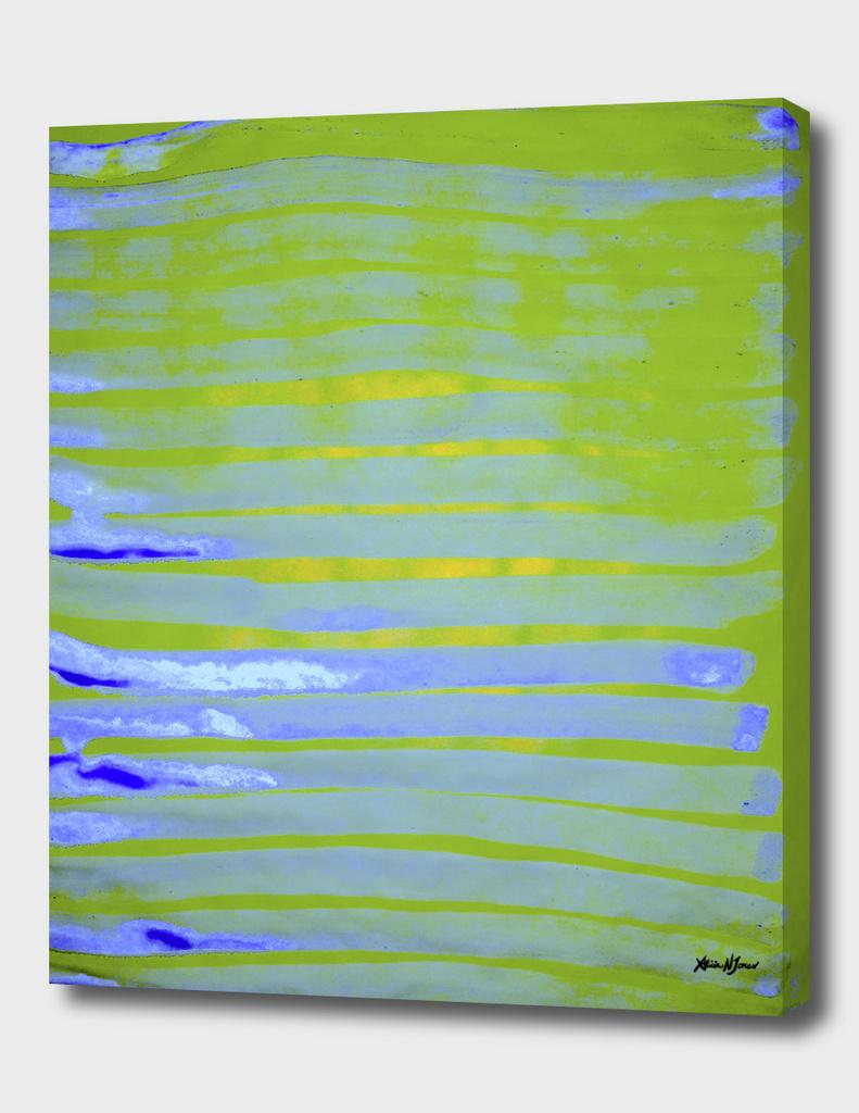Greenery Ocean Blue Stripes
