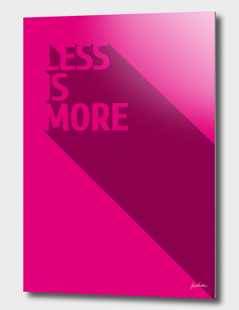 Less Is MOre - Magenta