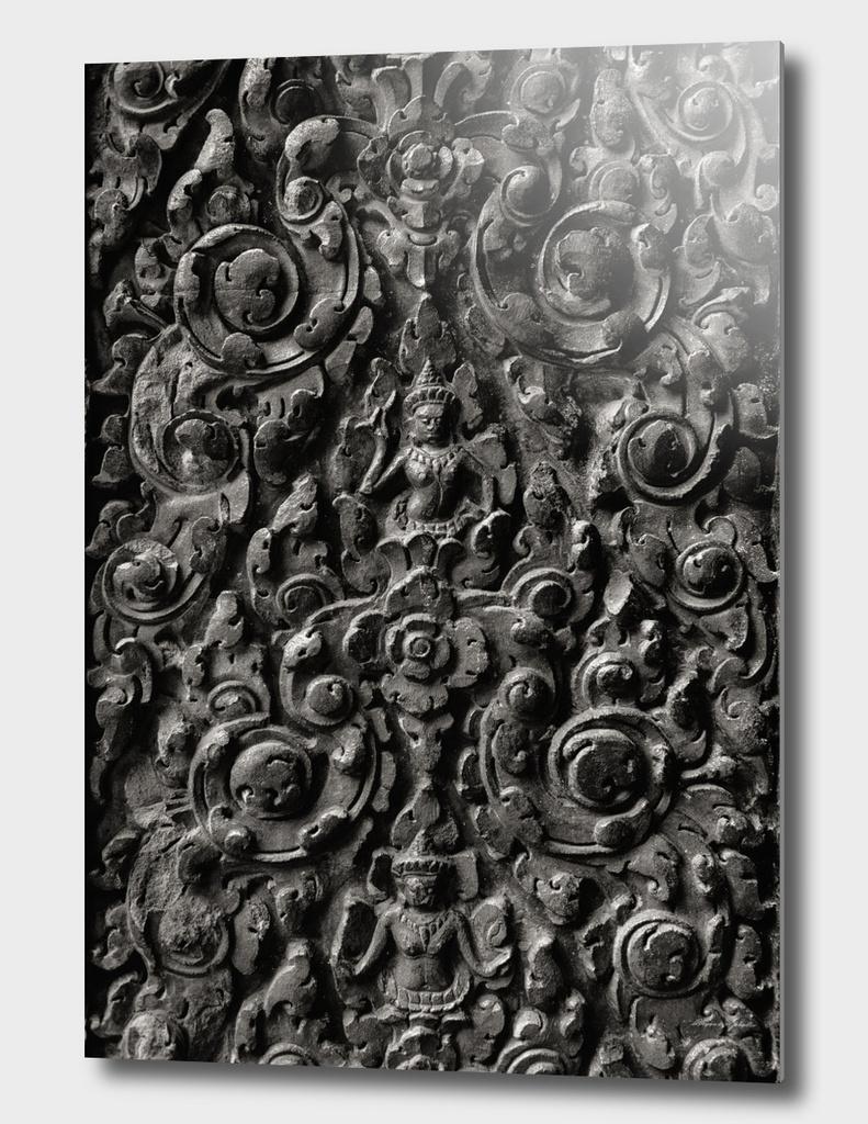 Ancient stone pattern. Angkor Wat. Cambodia