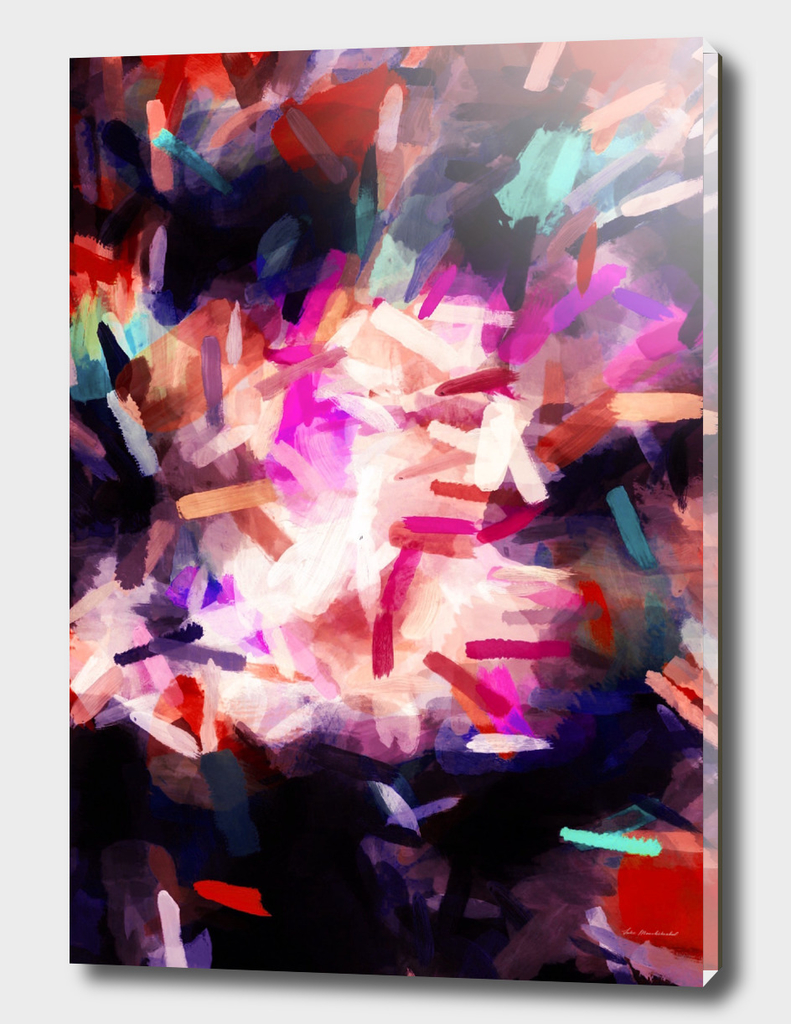 red orange blue purple black abstract painting background