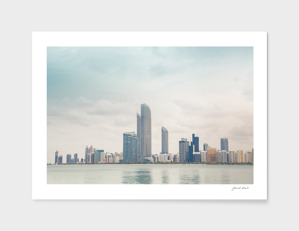 Dubai skyscrapers panorama